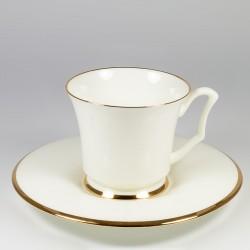 Чашка с блюдцем. Юлия. Золотая лента.