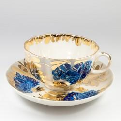 Csésze és alj. Tulipán. Aranykert.