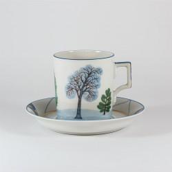 Чашка с блюдцем. Гербовая. Зима.