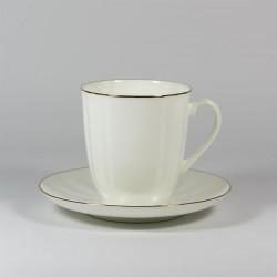 Csésze és alj. Pitypang. Arany szegélyke.