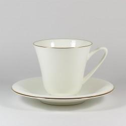 Чашка с блюдцем. Сад. Золотой кантик.