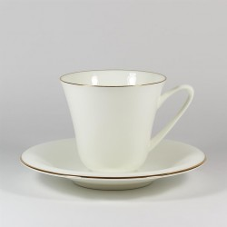 Cup&Saucer. Garden. Golden edging.