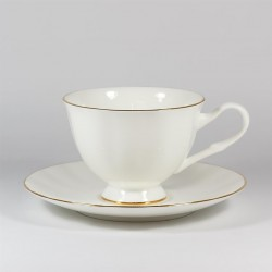 Cup&Saucer. Nega. Golden edging.