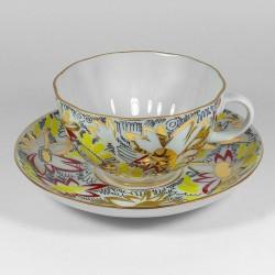 Csésze és alj. Tulipán. Arany Kamilla.
