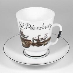 Skodelica s podstavkom. Maj. Nasvidenje St.Petersburg 6.