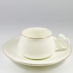 Csésze és alj. Bilibina. Arany szegélyke.