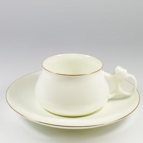 Чашка с блюдцем. Билибина. Золотой кантик.