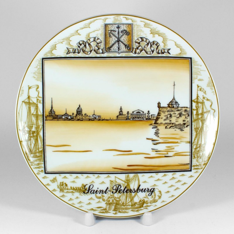 Decorate plate. Town of Peter the Great. Ø 200  sc 1 st  ArtCups & Decorate plate. Town of Peter the Great. Ø 200 - ArtCups