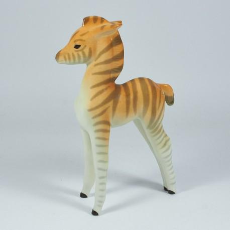 Szobrocska. Kis zebra.