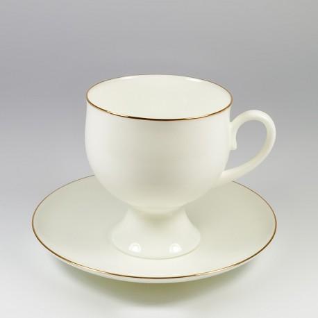 Csésze és alj. Klasszikus 2. Arany szegélyke.