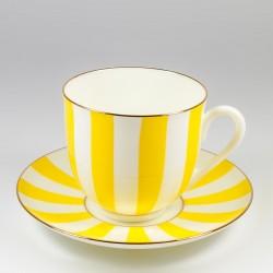 Чашка с блюдцем. Ландыш. Да и нет (желтый).