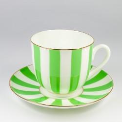 Чашка с блюдцем. Ландыш. Да и нет (зеленый).