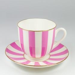 Чашка с блюдцем. Ландыш. Да и нет (розовый).