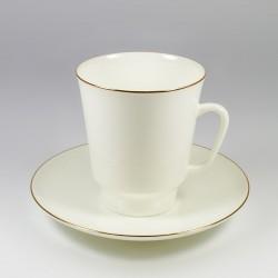 Чашка с блюдцем. Майская. Золотой кантик.