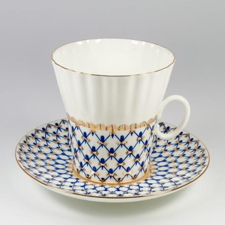 Csésze és alj. Pitypang. Kobalt háló.
